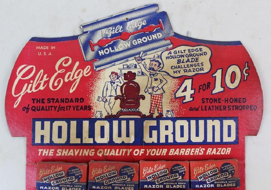 Hollow Ground Razor Blade Display - 3