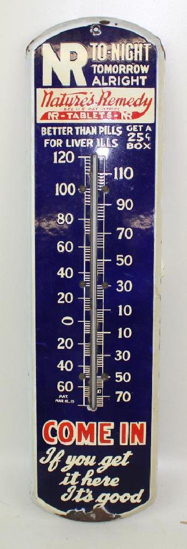 Nature's Remedy Thermometer and First Aid Advertising