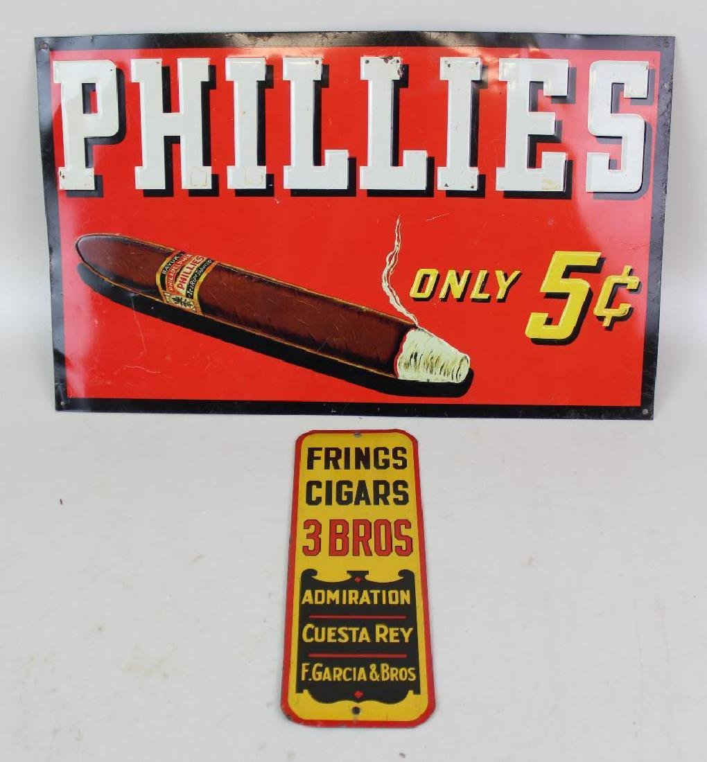 Phillies and Frings Cigar Advertising Tins