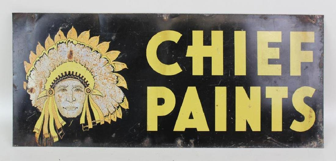Metal Chief Paint Advertising Sign