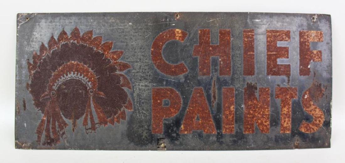 Metal Chief Paint Advertising Sign - 2