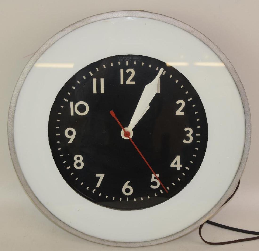 Gas Station LIghted Clock