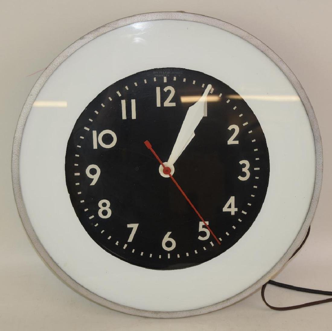 Gas Station LIghted Clock - 2
