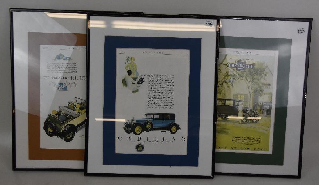 Vintage Automobile Gas station ads