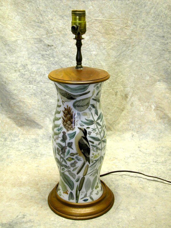 417: Decoupage Lamp.