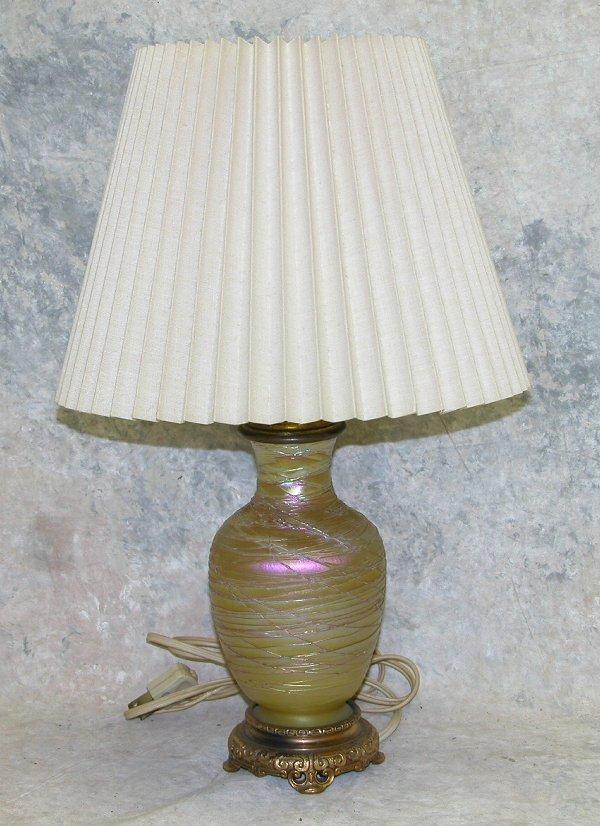 430: Art Glass Lamp.