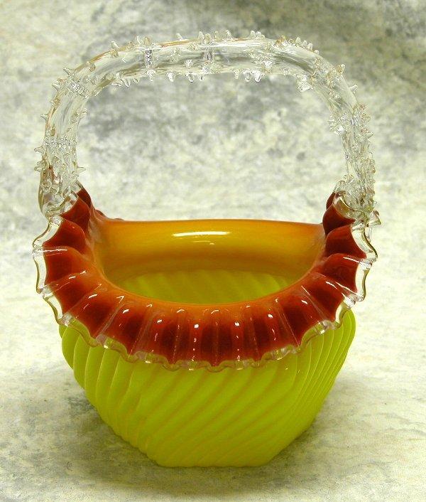 440: Victorian Cased Glass Basket.