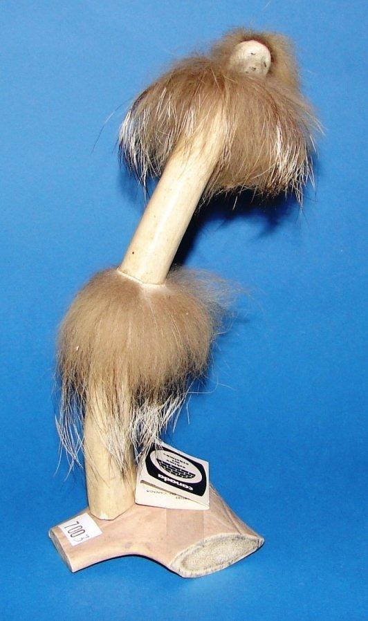 7003: Hand Carved Inuit Shamen Antler
