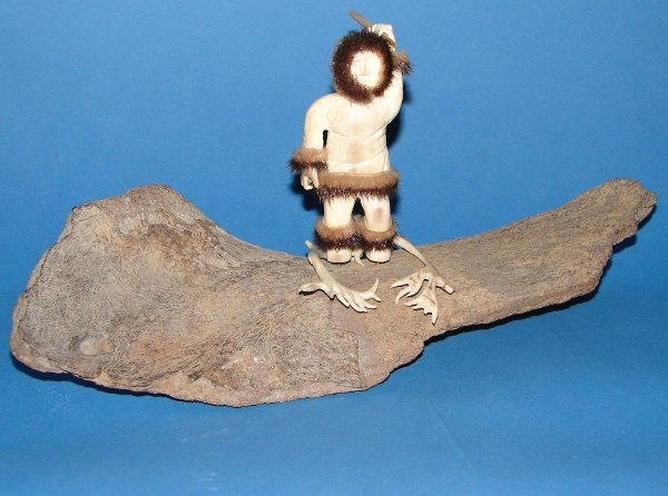 7005: Hand Carved Inuit Eskimo Figure