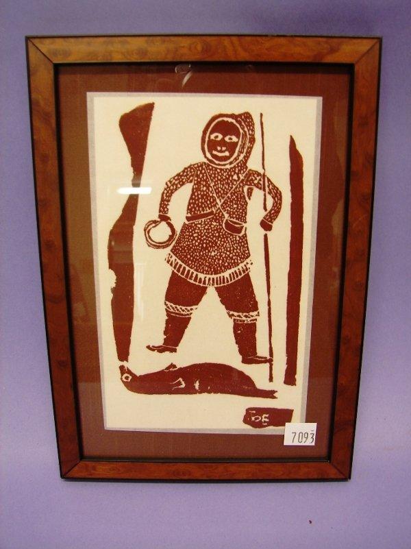 7093: Inuit Stone Cut Print