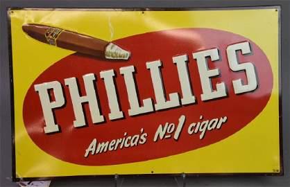 Phillies Metal Advert Sign