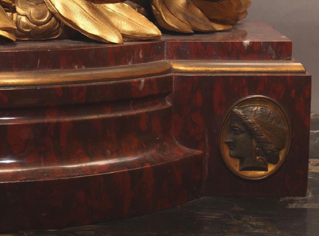Julius Caesar Figural Gilded Bronze Mantel Clock - 5