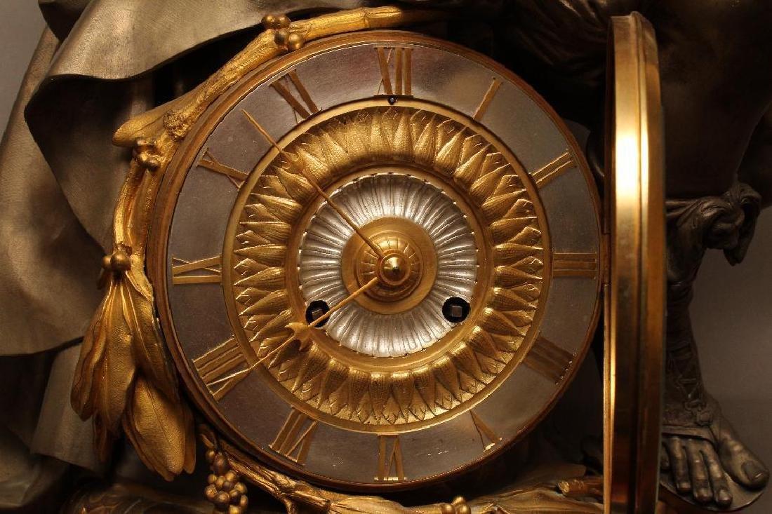 Julius Caesar Figural Gilded Bronze Mantel Clock - 9
