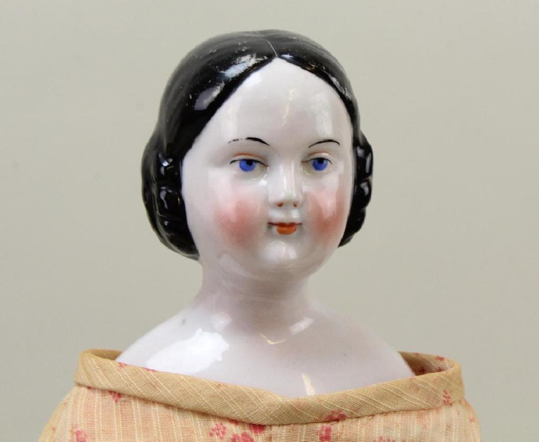 "17"" ANTIQUE CHINA HEAD DOLL. - 2"