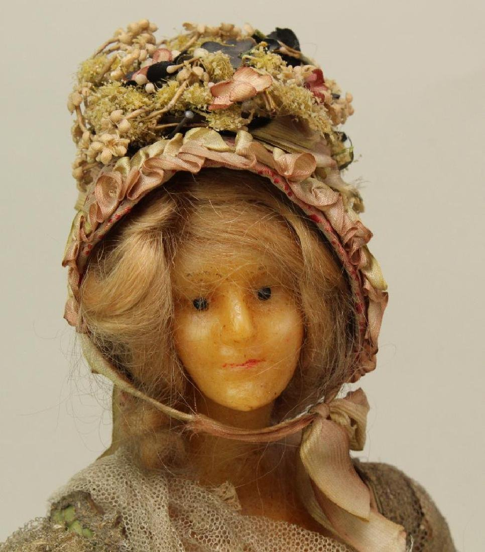 SET OF (3) FRENCH WAX SHOULDER HEAD FASHION DOLLS IN - 3