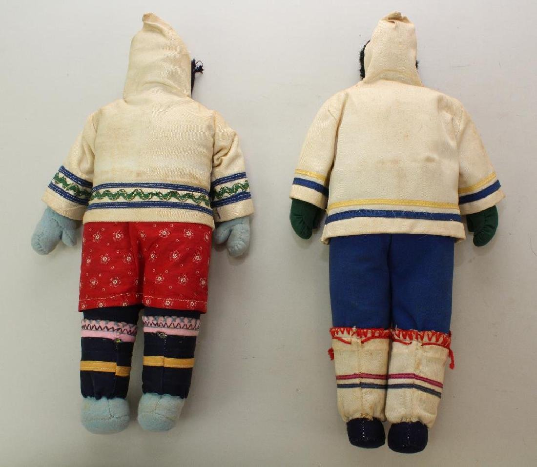 PAIR OF ALL ORIGINAL NATIVE AMERICAN/ESKIMO DOLLS . - 4