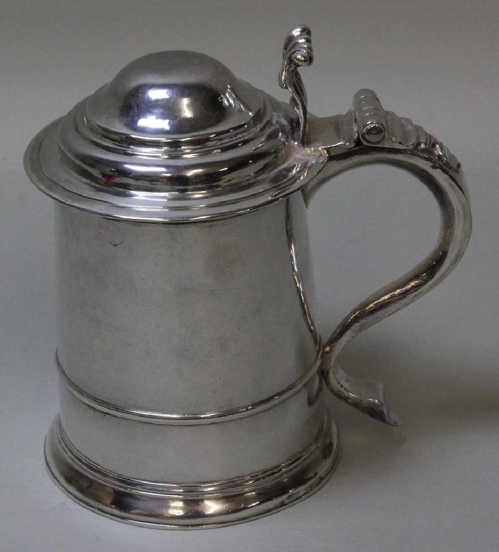 Georgian Sterling Silver Tankard - 3