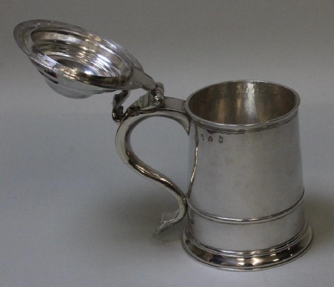 Georgian Sterling Silver Tankard - 4