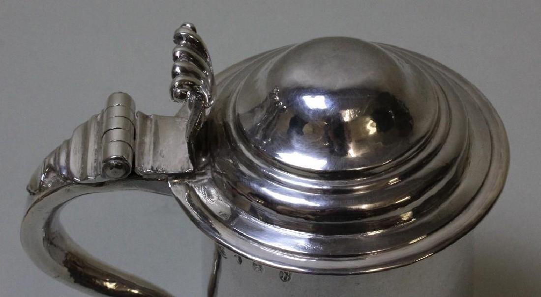 Georgian Sterling Silver Tankard - 9