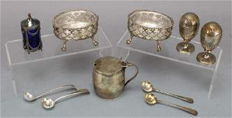 Georgian Sterling Silver Entertainment Grouping