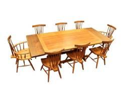 Alan Rockwell, Walnut 9pc Dining Set