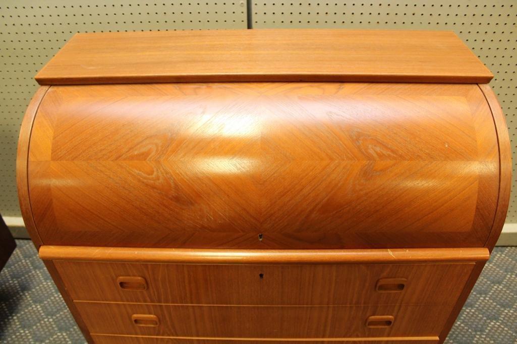 Danish Modern Cylinder Front Desk - 2
