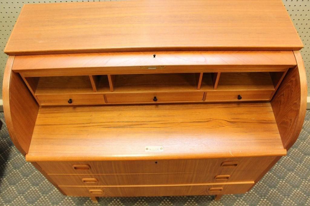 Danish Modern Cylinder Front Desk - 3