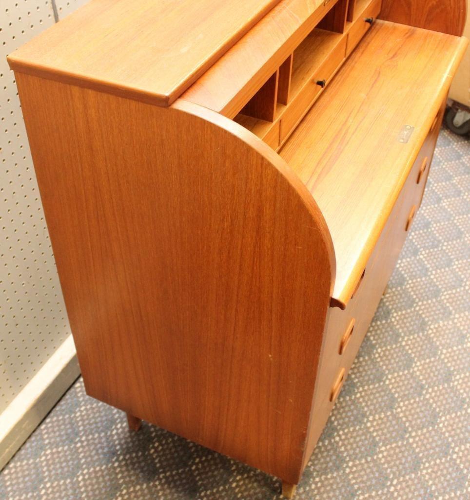 Danish Modern Cylinder Front Desk - 6