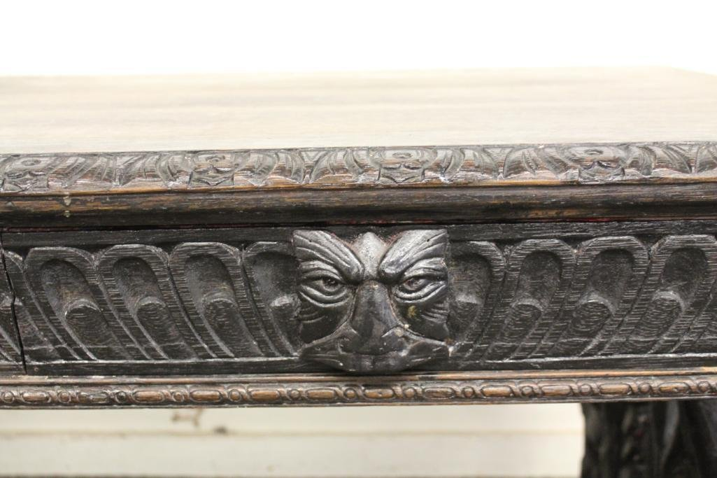 Baroque Carved Library Table - 3