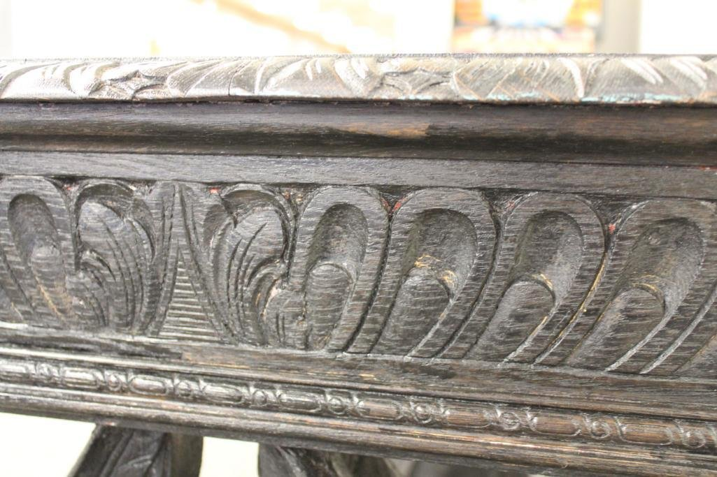 Baroque Carved Library Table - 6