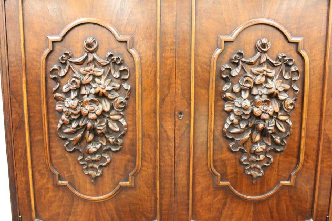 Carved Blind Door China Cabinet - 3