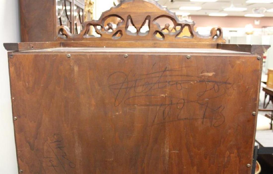 Carved Blind Door China Cabinet - 8