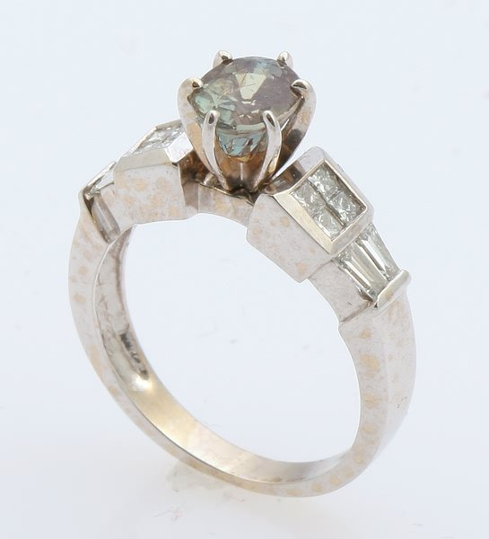 3250: Alexandrite and Diamond Ring