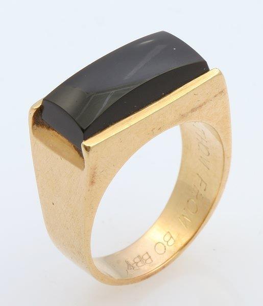 3255: Black Onyx Ring