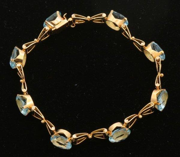 3258: Blue Topaz Bracelet