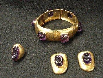 3259: Bracelet, Ring and Earrings Set