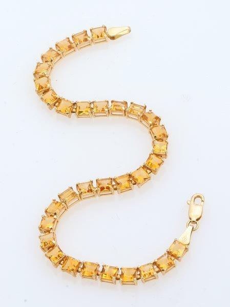 3268: Citrine Tennis Bracelet
