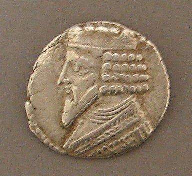 7013: Parthian Silver Tetradrachm Ancient Coin