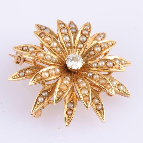 3257: Diamond and Pearl Pin/Pendant