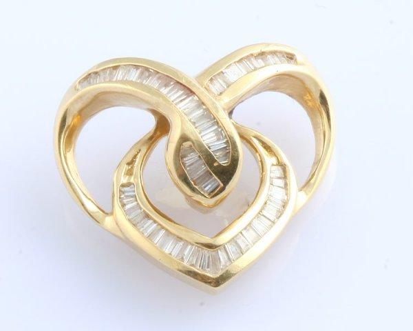 3262: Diamond Heart Pendant Slide