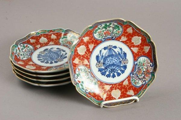 3497: Group of 12 Japanese Imari Octagonal Plates