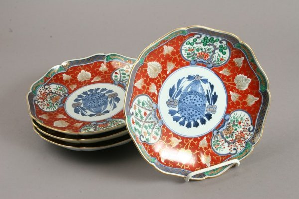 3498: Group of 12 Japanese Imari Octagonal Plates - 2
