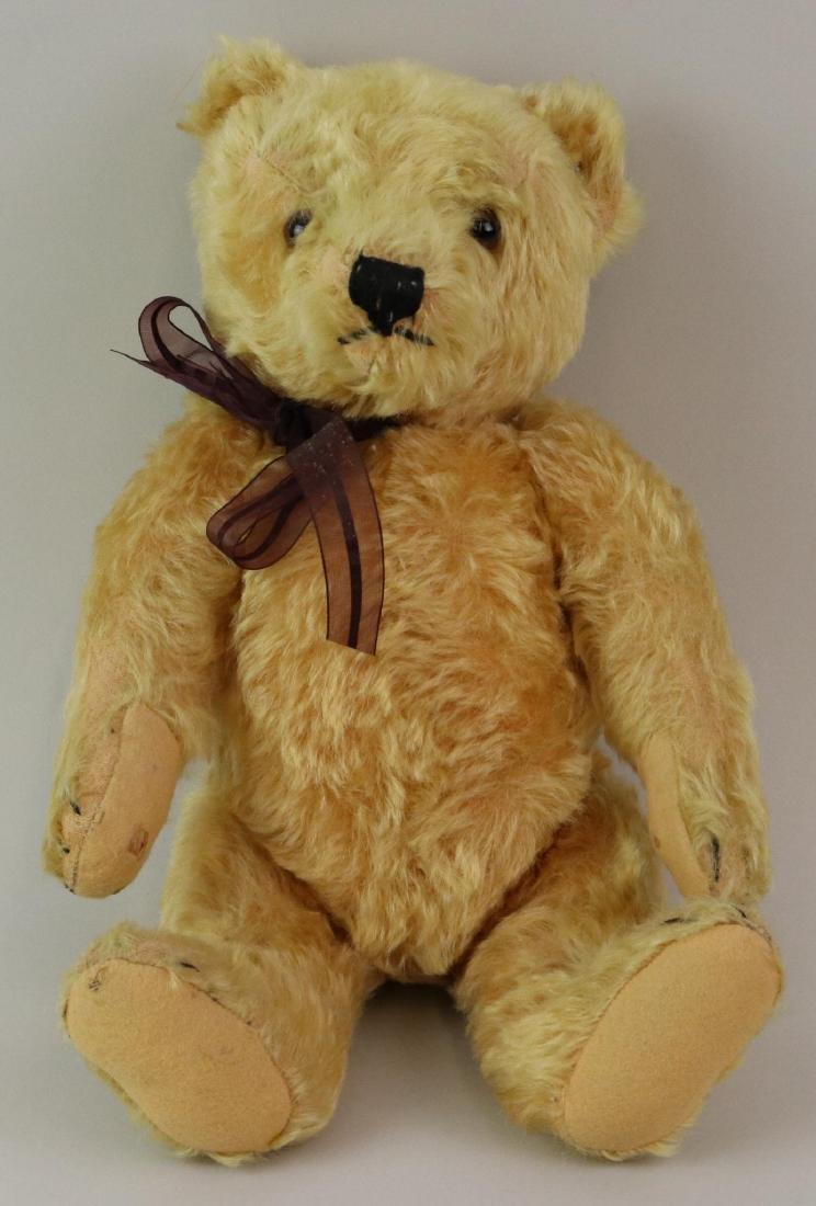 """15"""" TAGGED ANTIQUE STEIFF MOHAIR TEDDY BEAR."""
