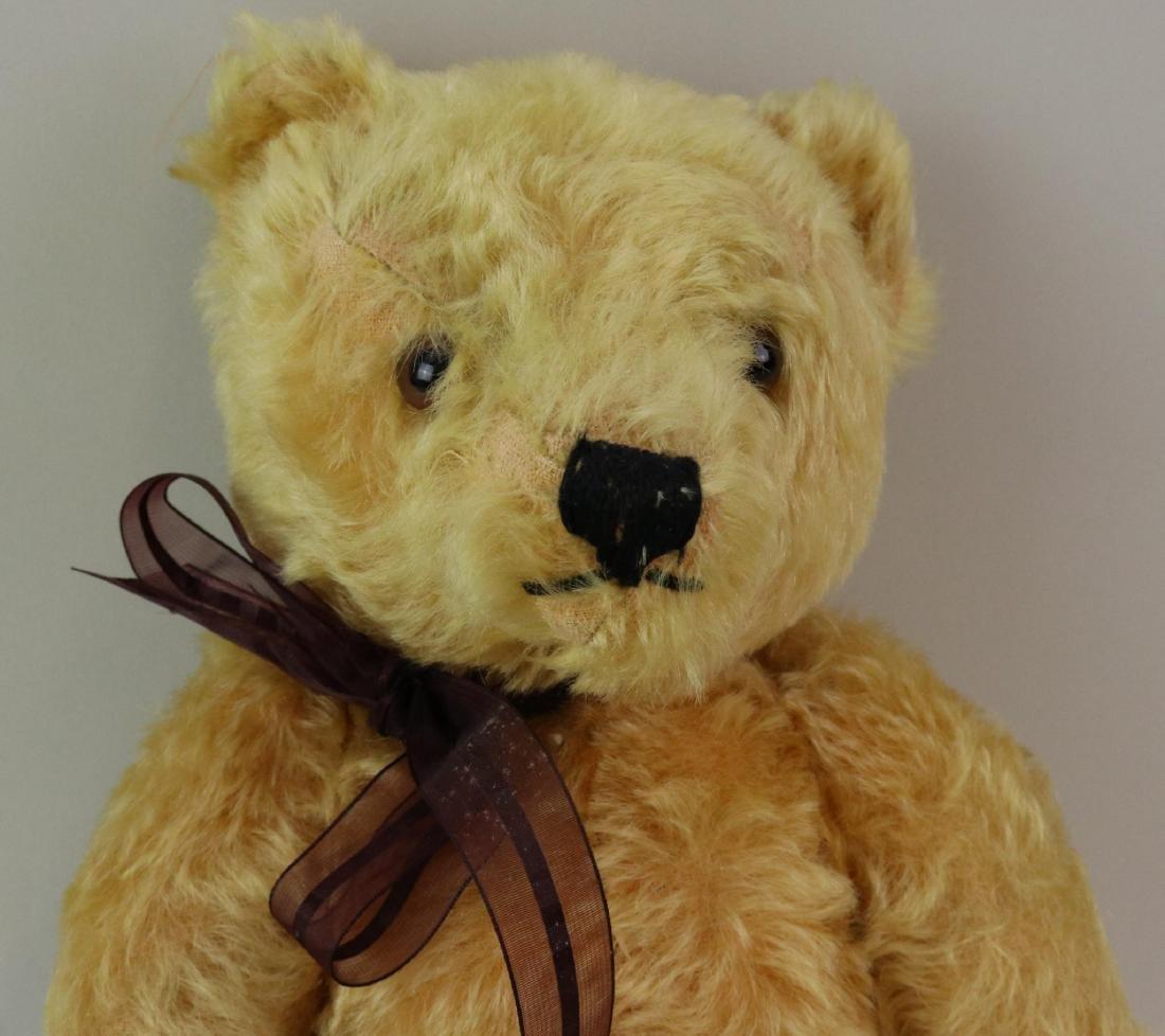 """15"""" TAGGED ANTIQUE STEIFF MOHAIR TEDDY BEAR. - 2"""