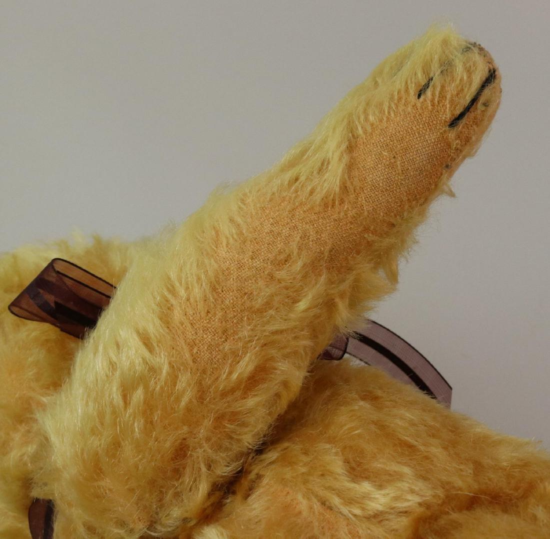 """15"""" TAGGED ANTIQUE STEIFF MOHAIR TEDDY BEAR. - 6"""