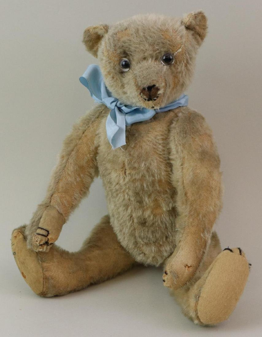 """16"""" UNMARKED ANTIQUE MOHAIR TEDDY BEAR."""