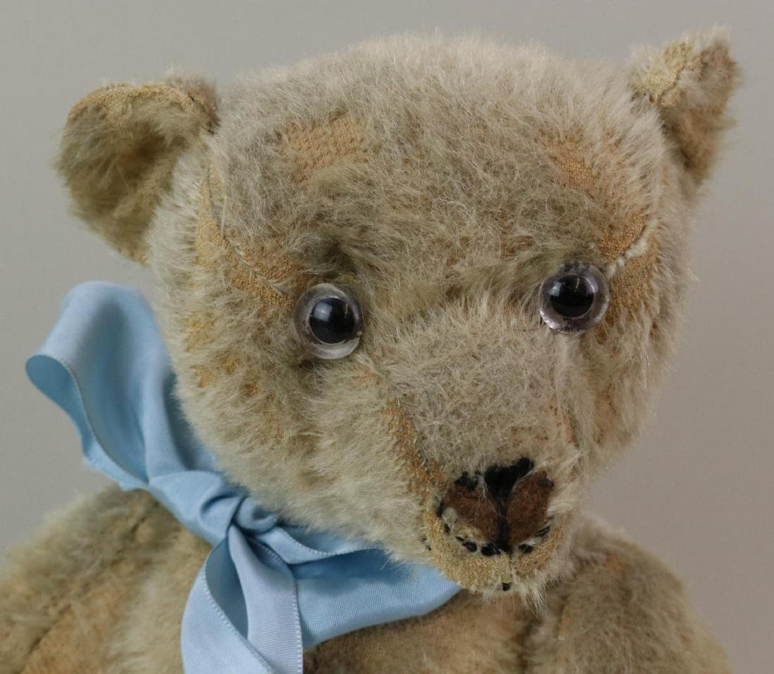 """16"""" UNMARKED ANTIQUE MOHAIR TEDDY BEAR. - 2"""