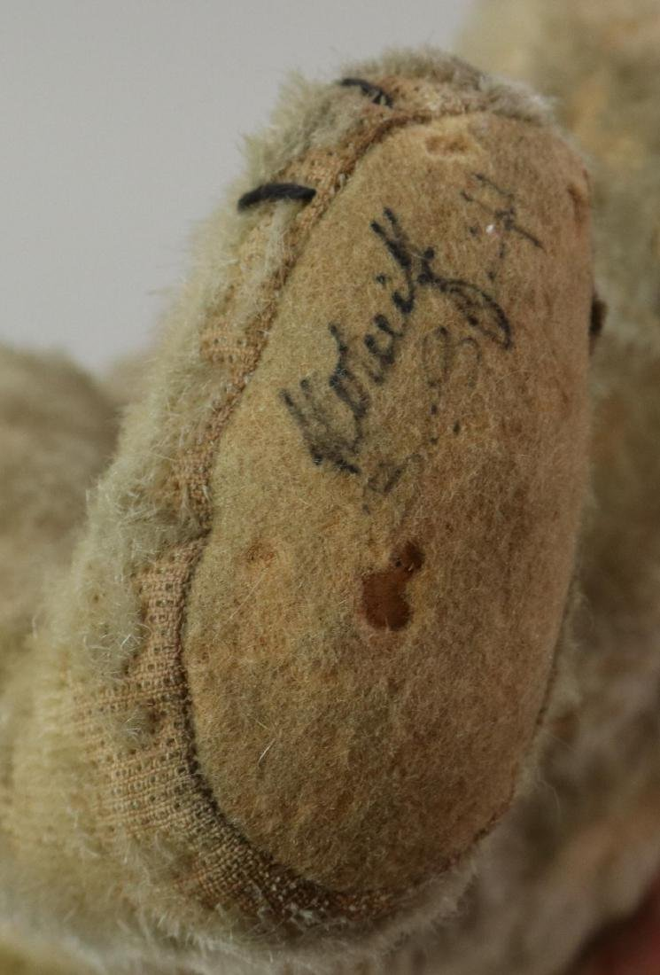"""16"""" UNMARKED ANTIQUE MOHAIR TEDDY BEAR. - 3"""