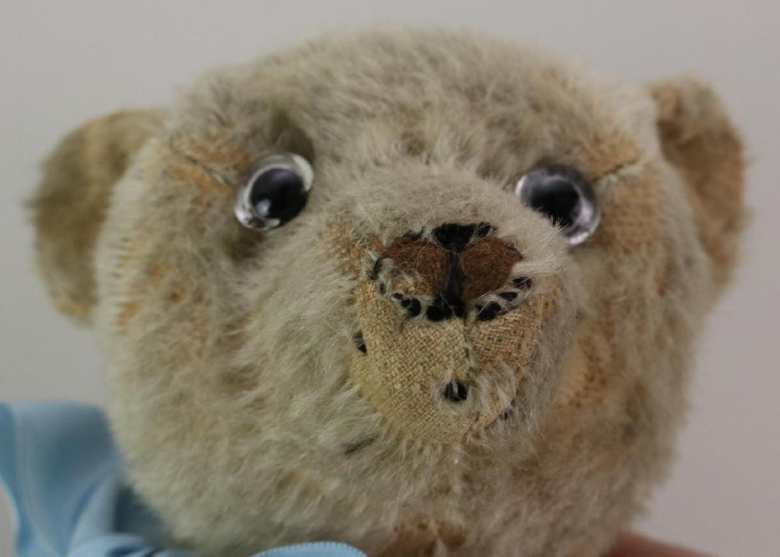 """16"""" UNMARKED ANTIQUE MOHAIR TEDDY BEAR. - 5"""