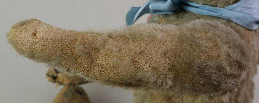 """16"""" UNMARKED ANTIQUE MOHAIR TEDDY BEAR. - 6"""